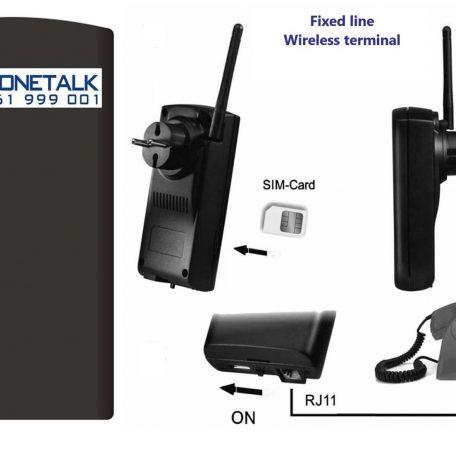Phonetalk GSM wireless telephone line